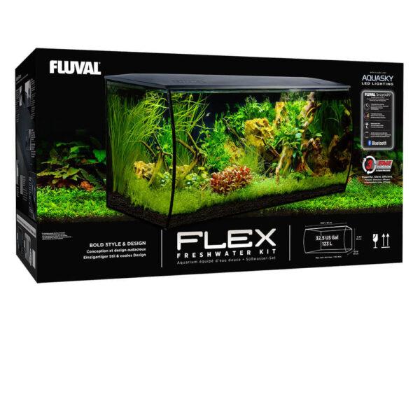 Flex Aquarienset, 123 l, Weiss
