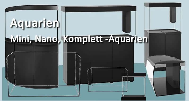 Aquarien, Nona, Mini,- Komplettaquarien